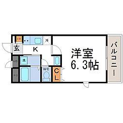ブリッサ立花[2階]の間取り