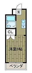 MORIYAMANSION[1階]の間取り