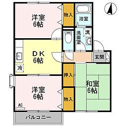 東京都三鷹市深大寺2丁目の賃貸アパートの間取り