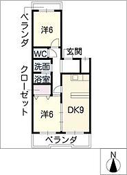東栄パークハイツ[3階]の間取り