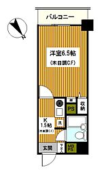 神奈川県川崎市川崎区元木1丁目の賃貸マンションの間取り