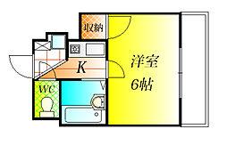 ハートフル藤井寺[3階]の間取り