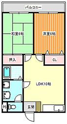 YKハイツ[3階]の間取り