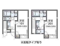 東京都江東区北砂6丁目の賃貸アパートの間取り