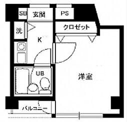 パーソナルマンション中央 bt[101kk号室]の間取り