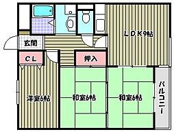 レジデンス今井2号館[2階]の間取り