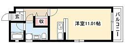 NEST黒川 3階1Kの間取り