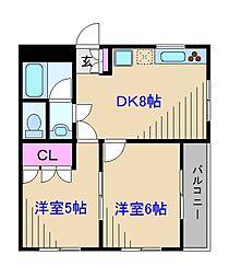 神奈川県横浜市港北区新吉田東6丁目の賃貸マンションの間取り