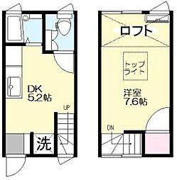 [テラスハウス] 東京都文京区千石1丁目 の賃貸【/】の間取り