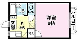 中垣ルネッサンスB[16号室]の間取り