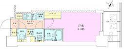 東京メトロ千代田線 赤坂駅 徒歩3分の賃貸マンション 7階1Kの間取り