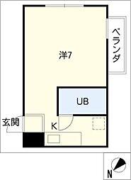 名駅セブンスタービル1107号室[11階]の間取り