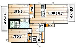NADYA上富野[2階]の間取り
