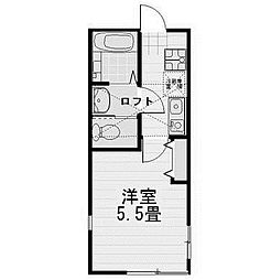 東京都町田市中町4丁目の賃貸アパートの間取り