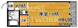 りぶ京都北大路[202号室号室]の間取り