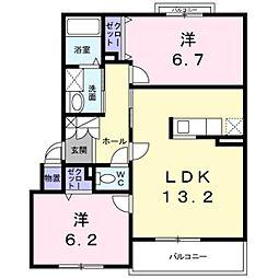 北海道札幌市白石区菊水上町三条3丁目の賃貸マンションの間取り
