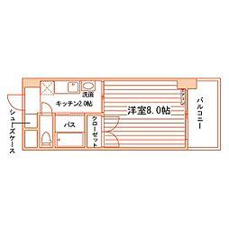 松井ビル[602号室]の間取り
