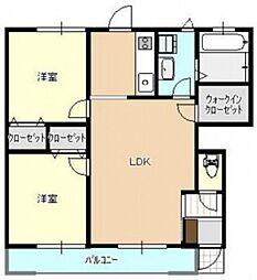 広島県広島市中区吉島東1丁目の賃貸アパートの間取り