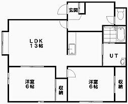 北海道札幌市白石区平和通7丁目北の賃貸アパートの間取り