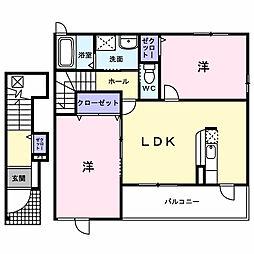 フォルシュ・ジェイ2[2階]の間取り