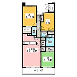 Cassia桜山[5階]の間取り