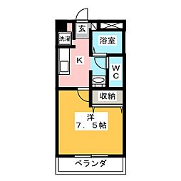 サンクリスタル[1階]の間取り