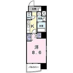 神奈川県横浜市中区曙町5丁目の賃貸マンションの間取り