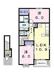 タートルクレイン[2階]の間取り