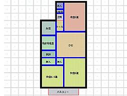 カーサ金子B棟[B101号室]の間取り