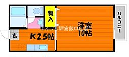 岡山県倉敷市安江丁目なしの賃貸アパートの間取り