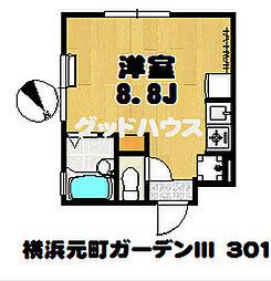 横浜元町ガーデンIII[301号室]の間取り