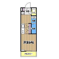 B CITY APARTMENT TACHIKAWA tokyo[3階]の間取り