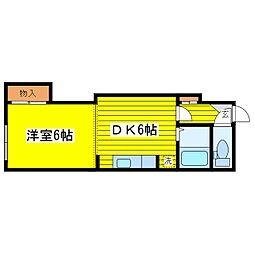 北海道札幌市東区北二十二条東17丁目の賃貸マンションの間取り