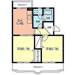 神奈川県相模原市南区大野台4丁目の賃貸マンションの間取り