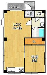 西岡マンション[1階]の間取り