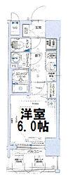 グランカリテ大阪城イースト 10階1Kの間取り