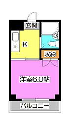 埼玉県所沢市喜多町の賃貸マンションの間取り