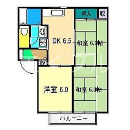 ウェルフェア中屋敷[1階]の間取り