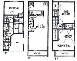 [一戸建] 東京都板橋区三園2丁目 の賃貸【/】の間取り
