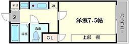 NANIWAI番館[3階]の間取り