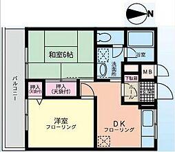 神奈川県横浜市磯子区杉田4丁目の賃貸マンションの間取り
