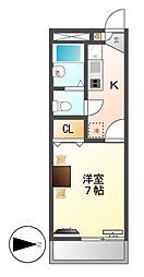 レオパレスM&T[1階]の間取り