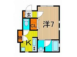 ひだまりハウス[1階]の間取り