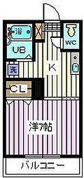 埼玉県さいたま市南区曲本4の賃貸アパートの間取り