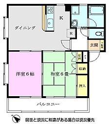 グレースマンションII[302号室]の間取り