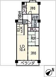 メゾン島田[1階]の間取り