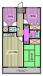 グリーンシティー五番館[4階]の間取り