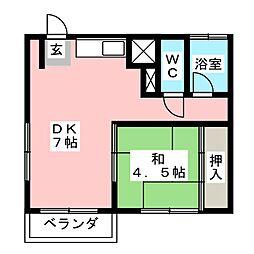 ディアハイツ[2階]の間取り