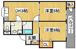 マンション藤I番館[3階]の間取り