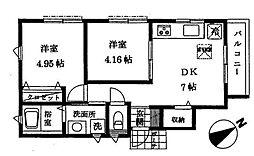 宮田町ハウス[1階]の間取り